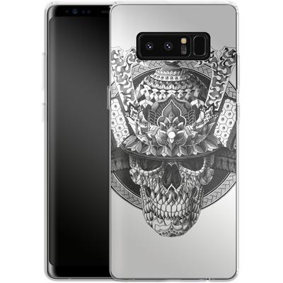 Samsung Galaxy Note 8 Silikon Handyhuelle - Samurai Skull von BIOWORKZ