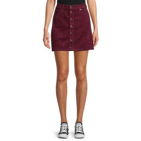 Arizona Womens Skirt-Juniors, 9 , Green