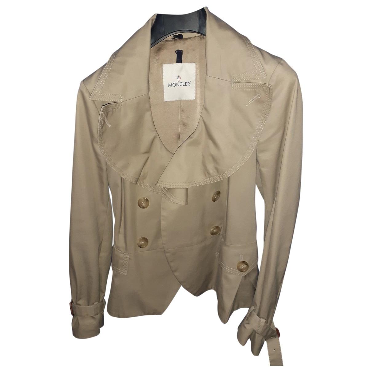 Moncler \N Beige Cotton jacket for Women 36 IT