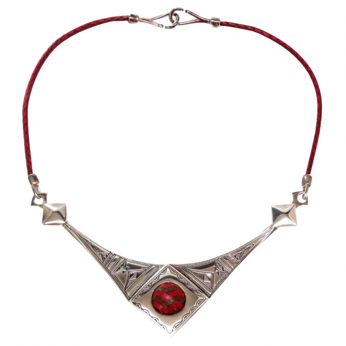 Hermes \N Kette in  Rot Silber