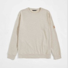 Men Patched Detail Pullover
