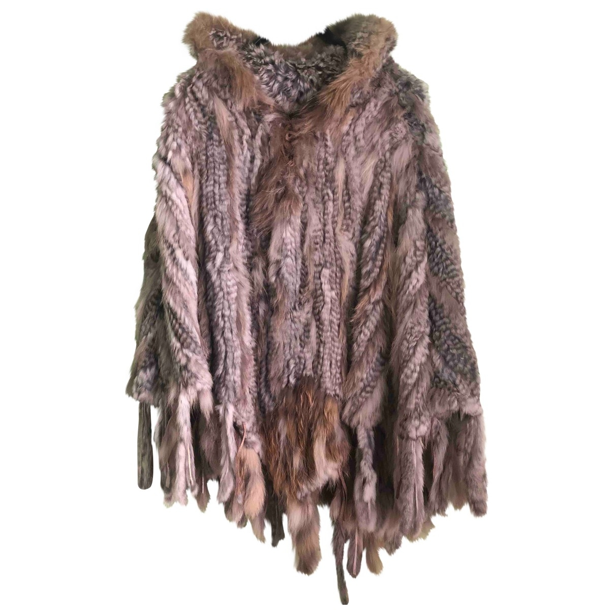 Non Signé / Unsigned \N Beige Rabbit coat for Women M International