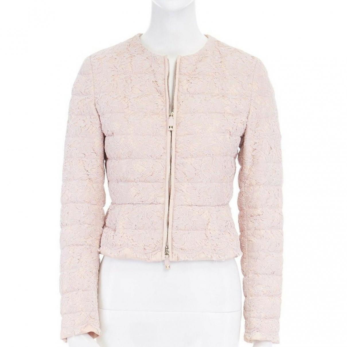 Valentino Garavani \N Pink Cotton coat for Women 38 IT