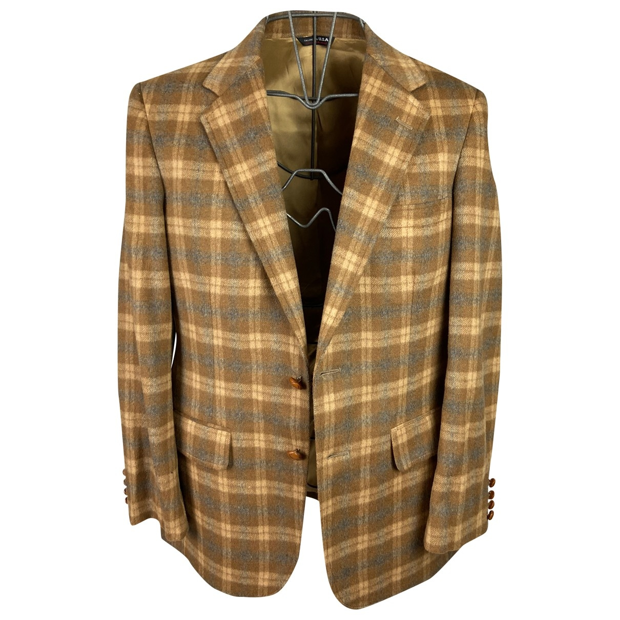 Non Signé / Unsigned Hippie Chic Camel Wool jacket  for Men L International