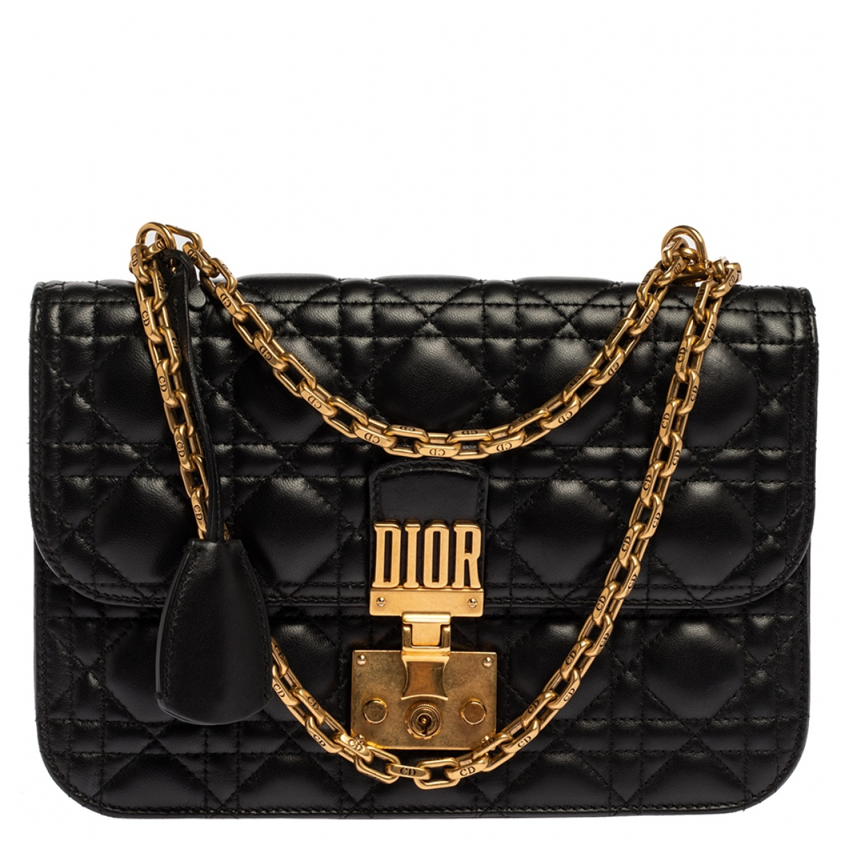 Dior DiorAddict Black Leather handbag for Women N