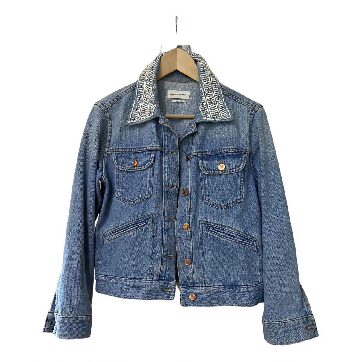 Isabel Marant Etoile \N Blue Denim - Jeans jacket for Women 38 FR