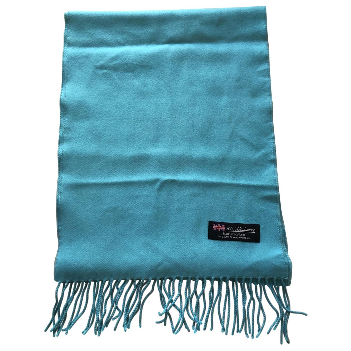 - Foulard   pour femme en cachemire - turquoise
