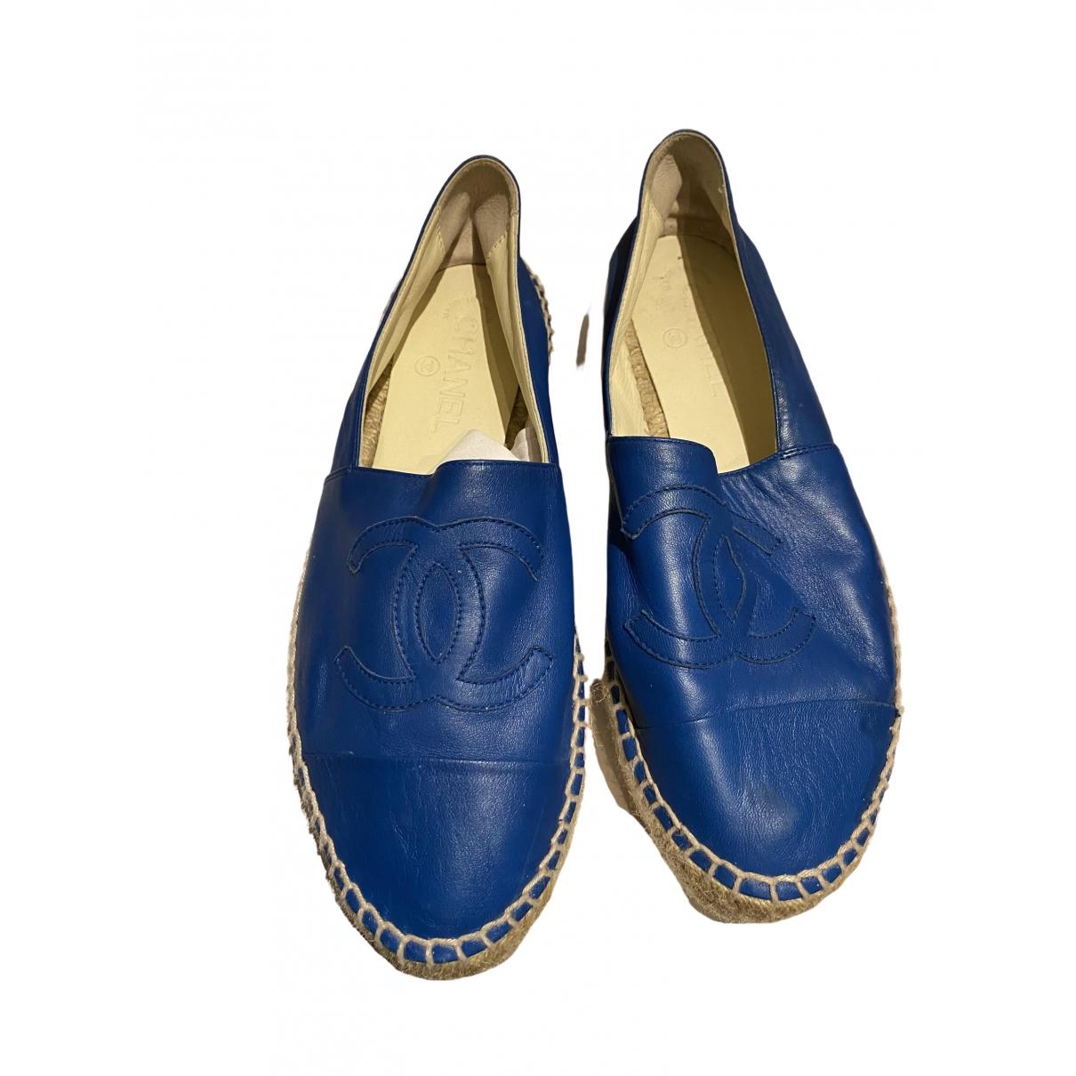 Chanel \N Blue Leather Espadrilles for Women 39 EU
