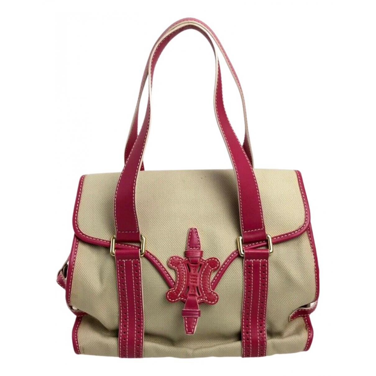 Celine N Beige Cloth handbag for Women N