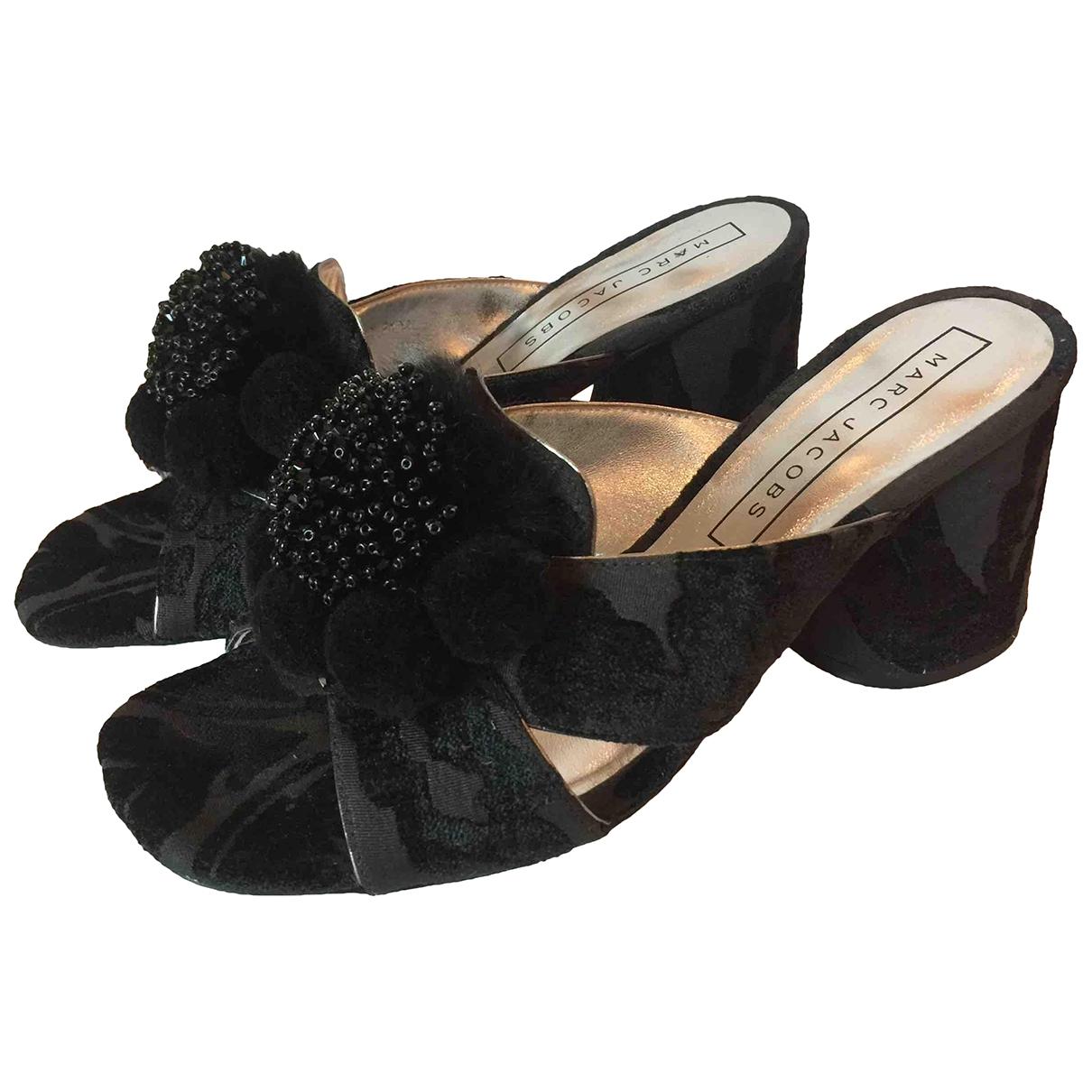 Marc Jacobs - Sandales   pour femme en velours - noir
