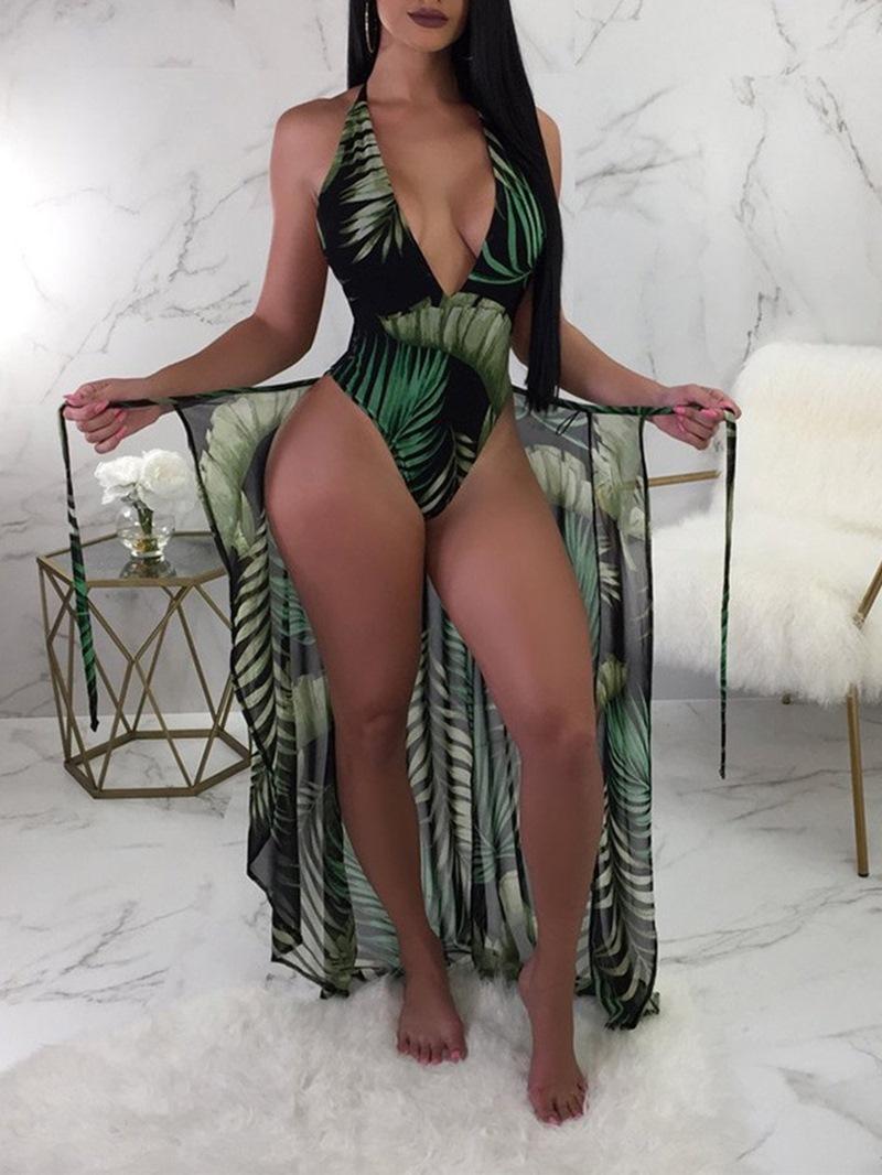 Ericdress Plant Pleated Sexy Swimwear