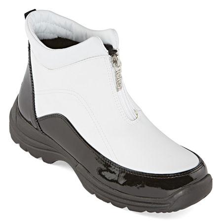 Totes Womens Freya Waterproof Insulated Winter Boots Flat Heel, 11 Medium, Black