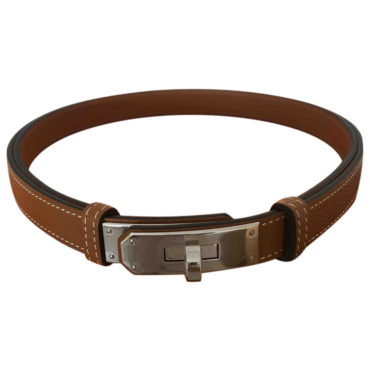Hermès Kelly Brown Leather belt for Women M International