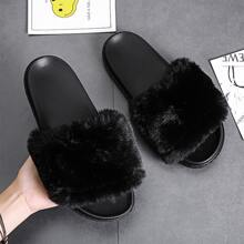 Faux Fur Decor Slides