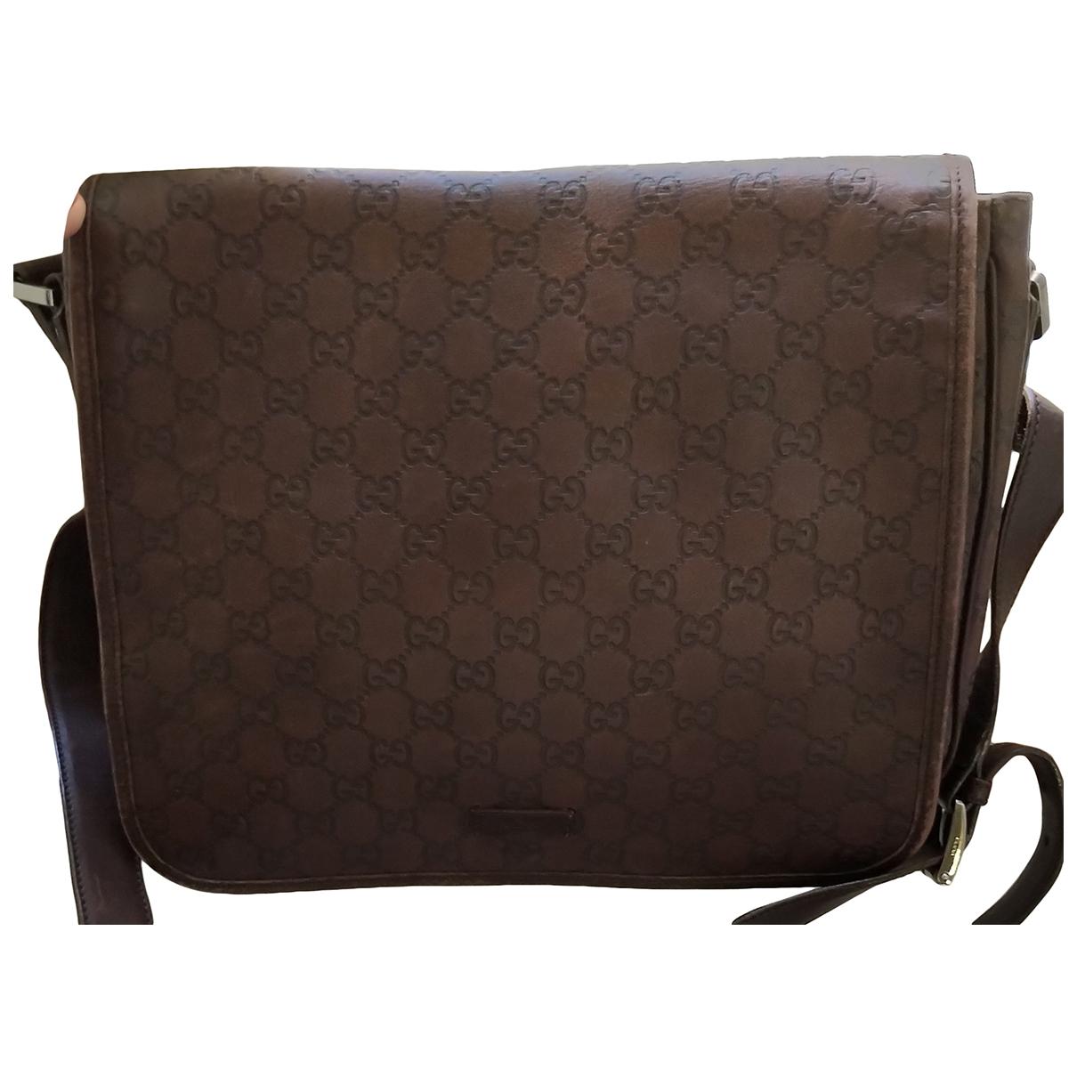 Gucci \N Brown Leather bag for Men \N