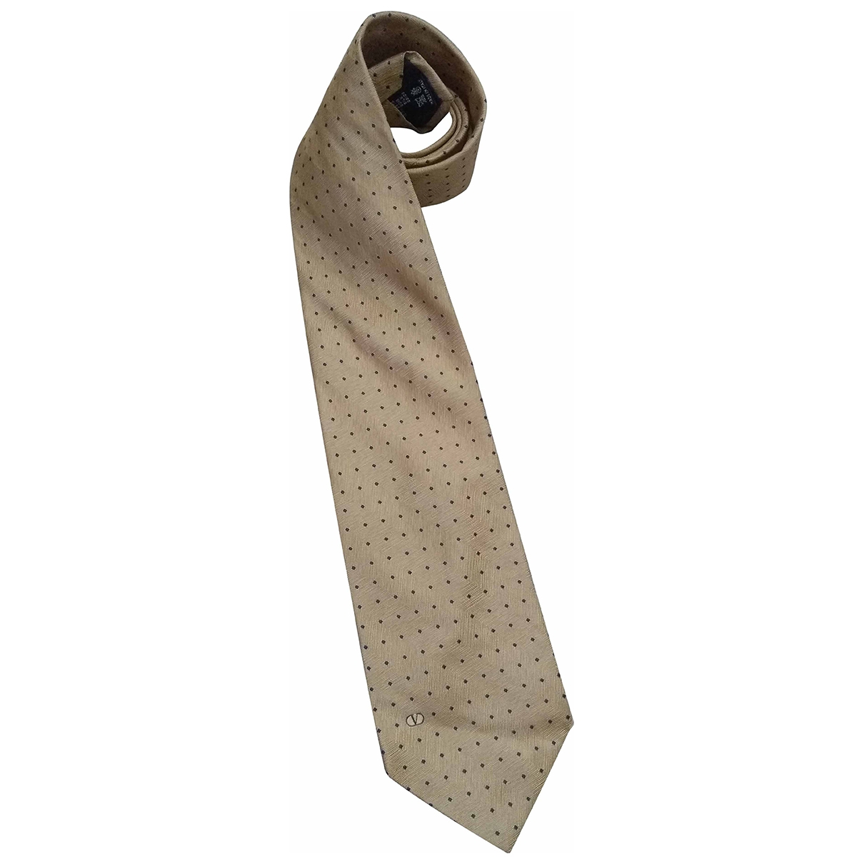 Valentino Garavani \N Beige Silk Ties for Men \N