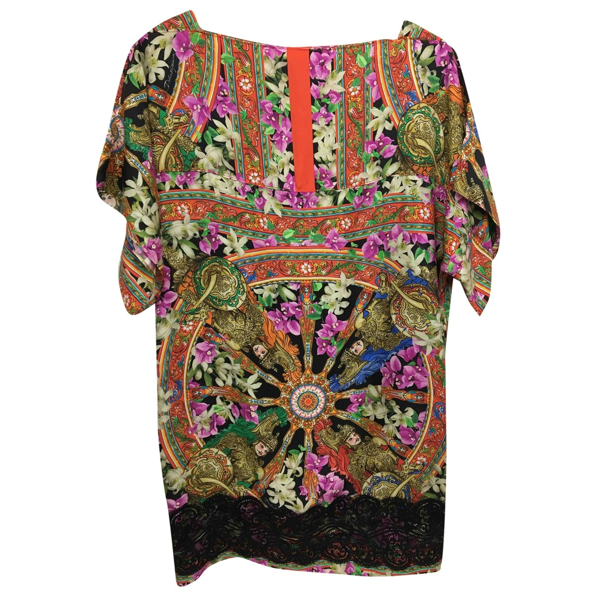 Dolce & Gabbana \N Multicolour Silk dress for Women 38 IT