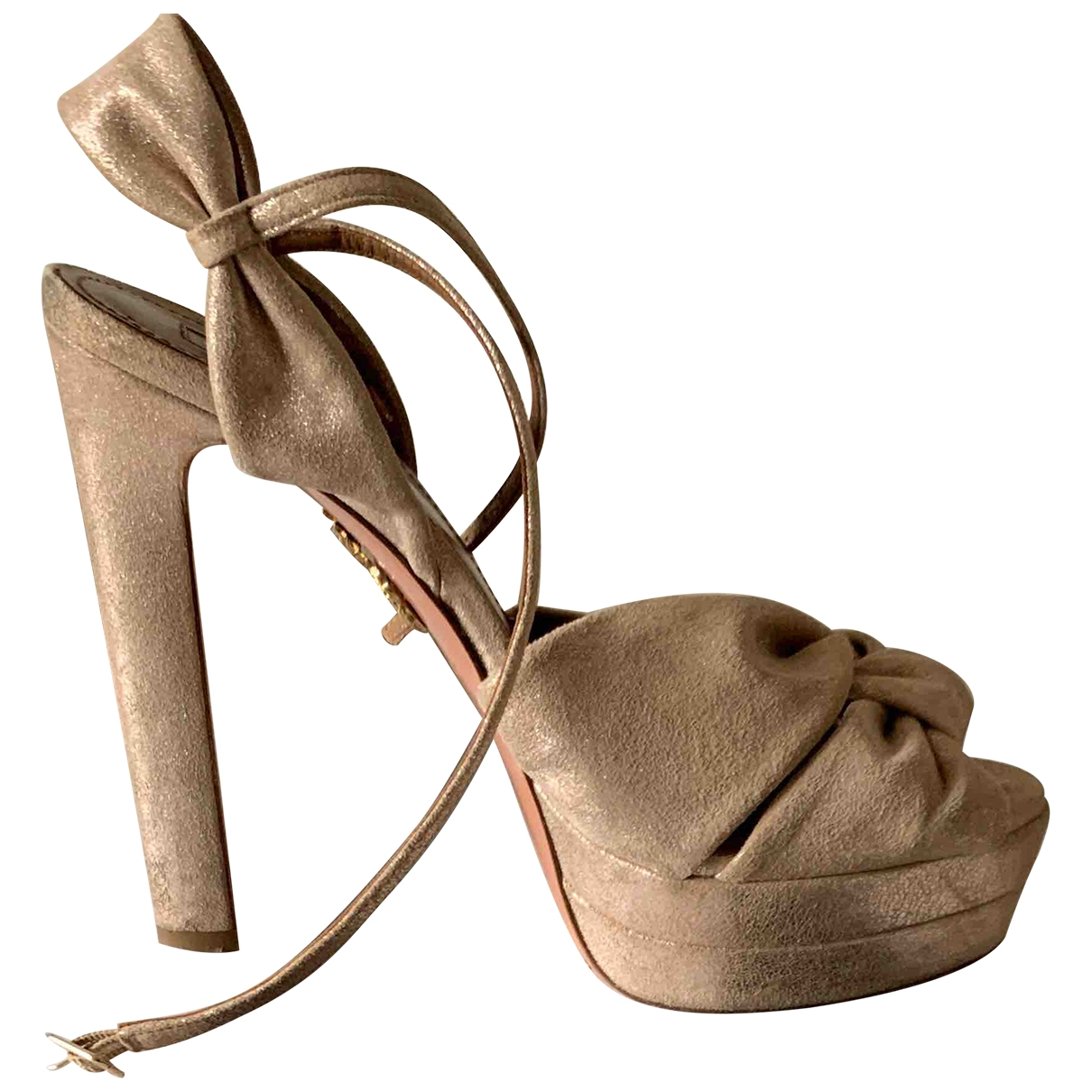 Aquazzura \N Pink Leather Sandals for Women 38.5 EU