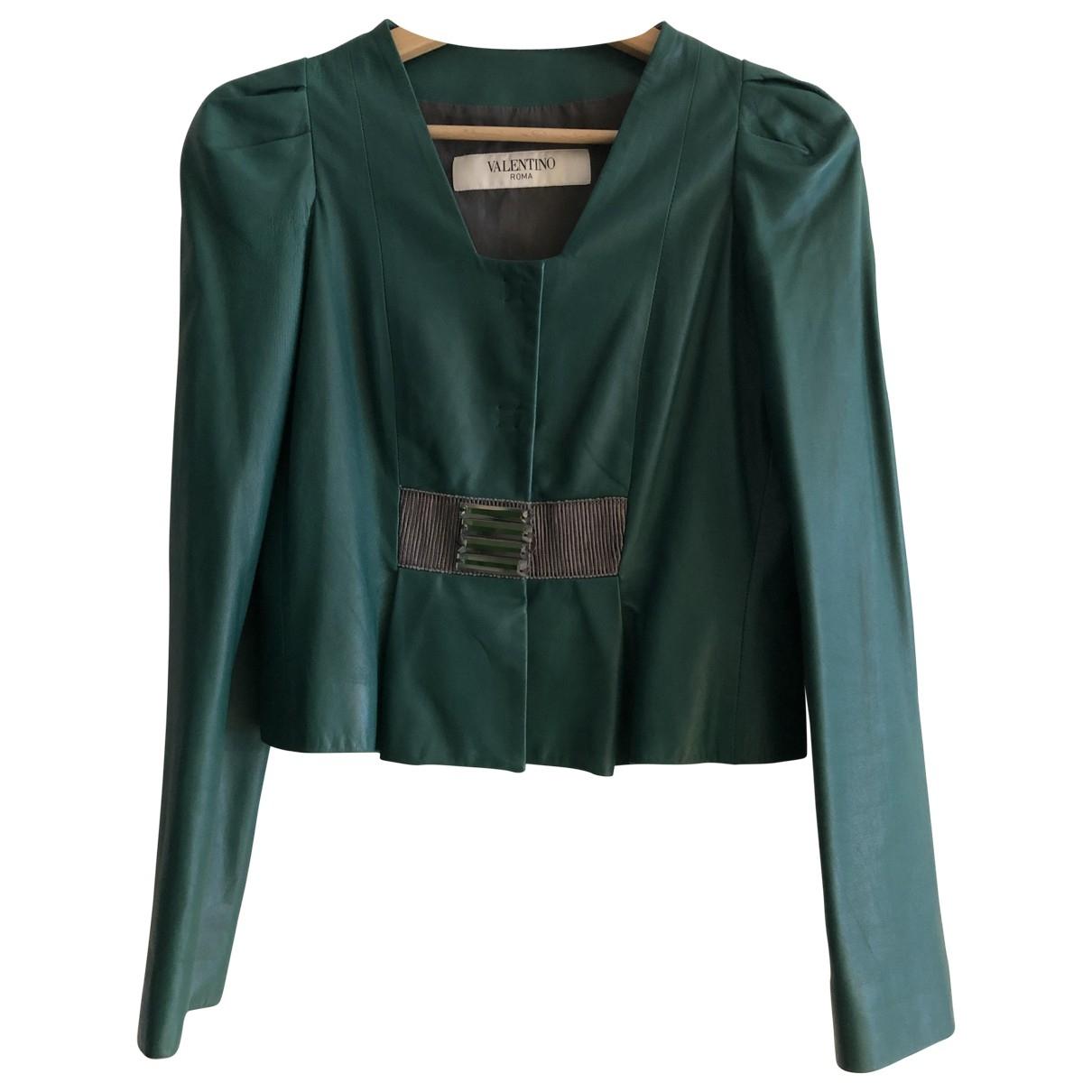 Valentino Garavani - Veste   pour femme en cuir - vert