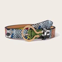 Snakeskin Pattern Belt