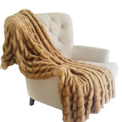Mink Beige Collection PBSF1501-80x110T 80L x 110W Full Tissavel Faux Fur Handmade Luxury