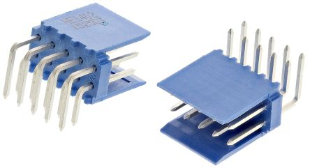 TE Connectivity , AMPMODU HE14, 10 Way, 2 Row, Right Angle PCB Header (10)