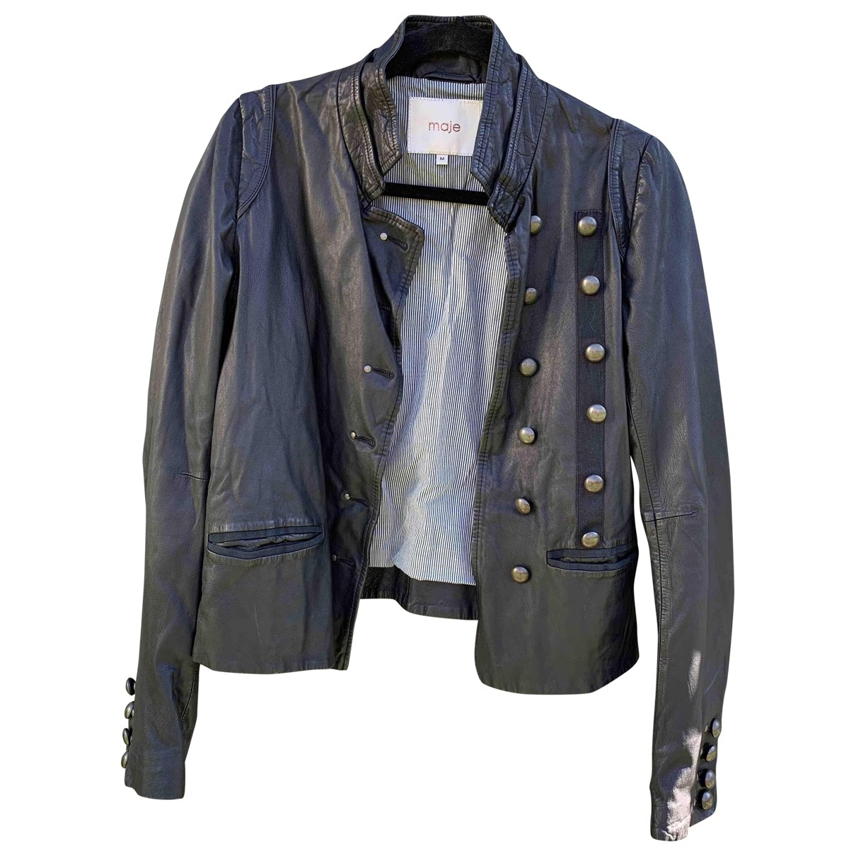 Maje \N Black Leather jacket for Women M International