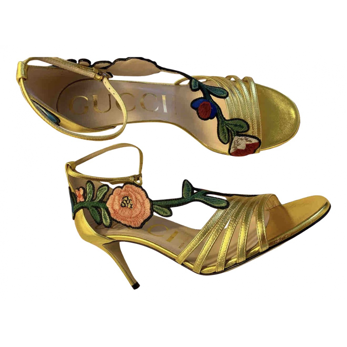 Gucci \N Gold Leather Sandals for Women 36.5 IT