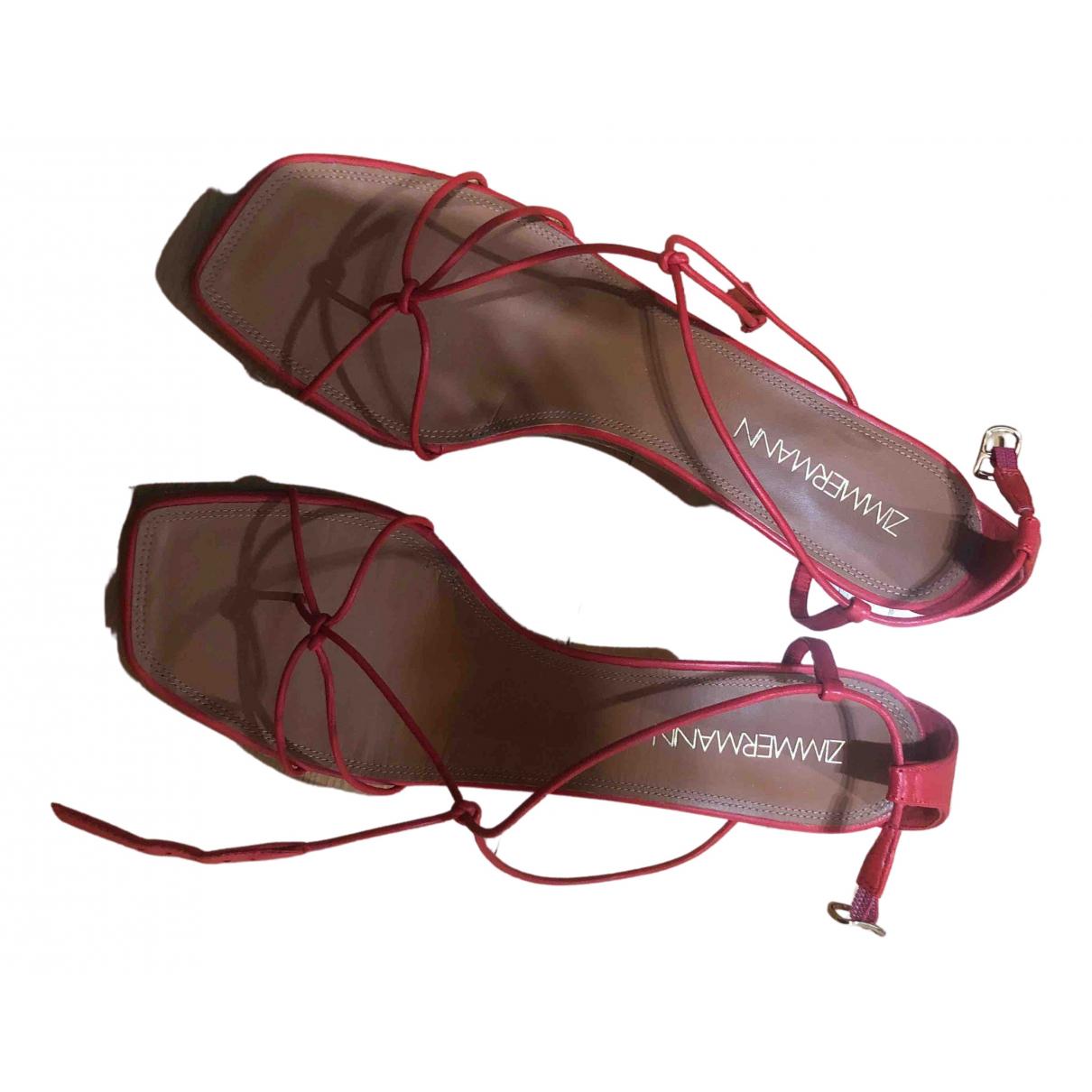 Zimmermann - Sandales   pour femme en cuir - orange