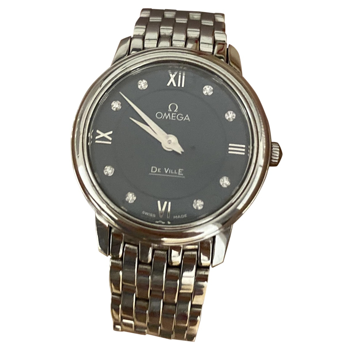Omega De Ville  Silver Steel watch for Women N