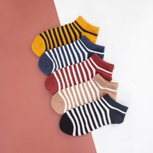 5pairs Men Striped Ankle Socks