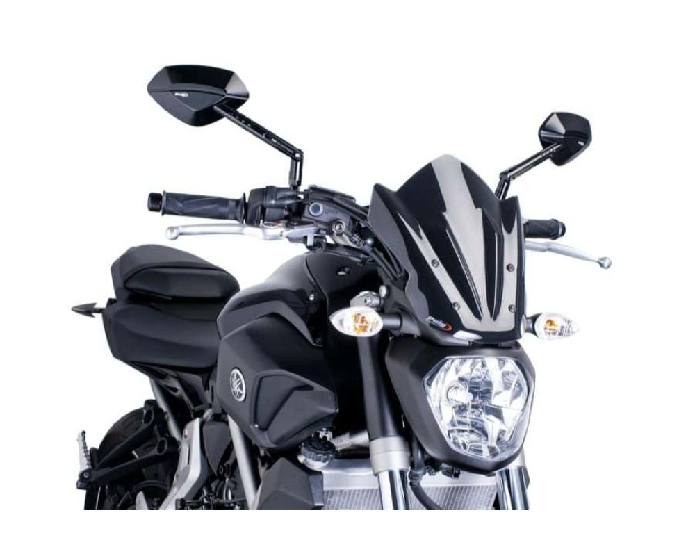 Puig 7015N Naked New Gen Sport Windscreen - Black Yamaha MT-07 2014