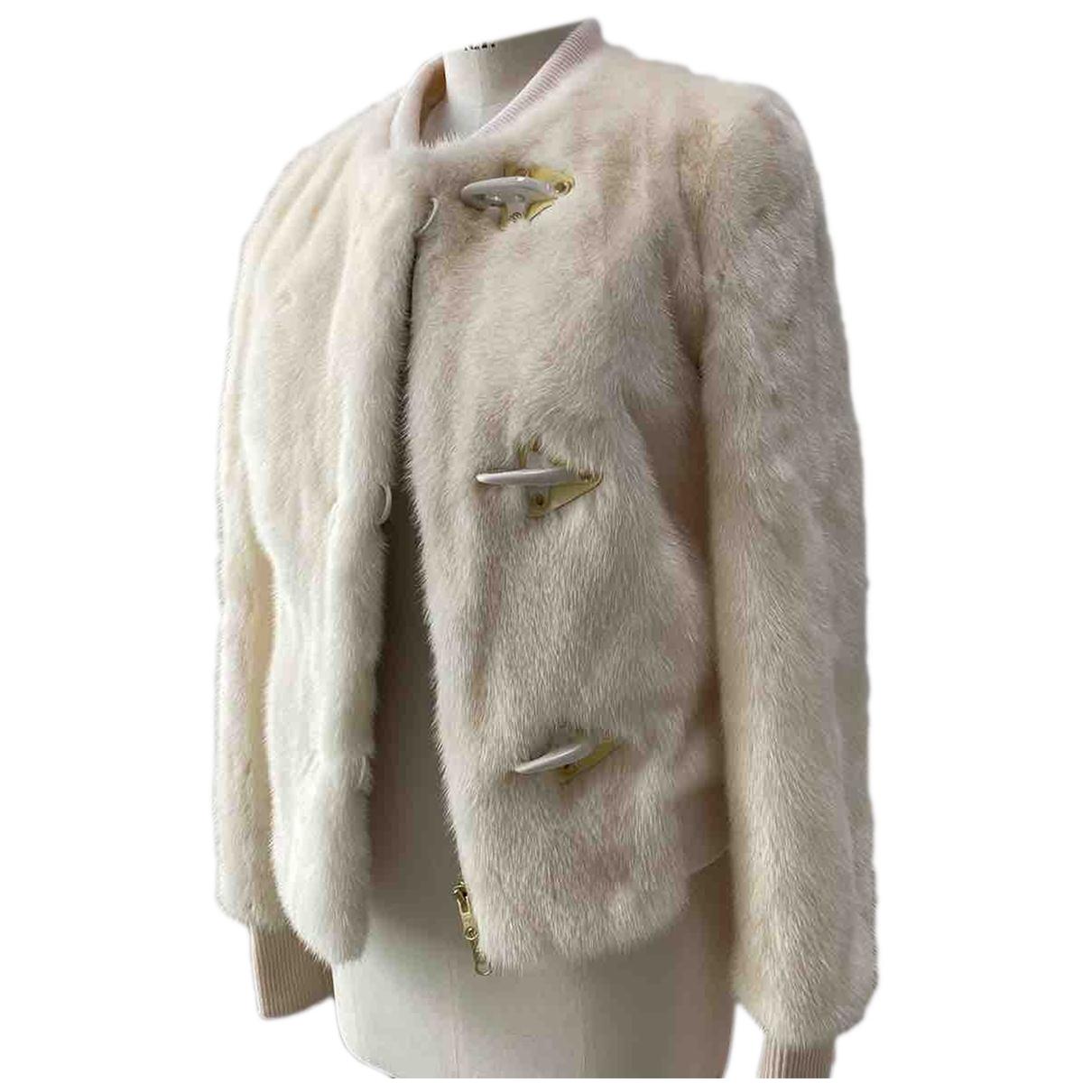 Fay - Veste   pour femme en vison - blanc