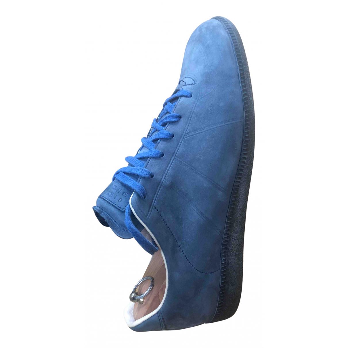 Maison Martin Margiela - Baskets   pour homme en cuir - bleu