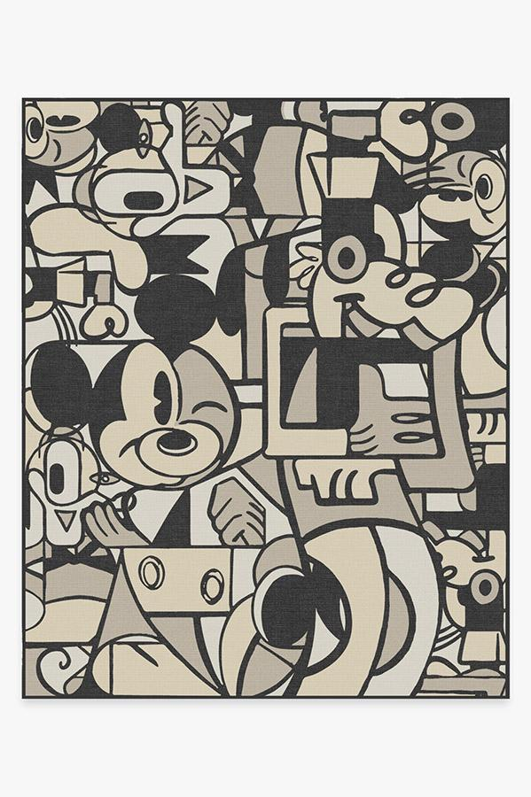 Washable Rug Cover & Pad | Mickey & Friends Warm Grey Rug | Stain-Resistant | Ruggable | 8'x10'