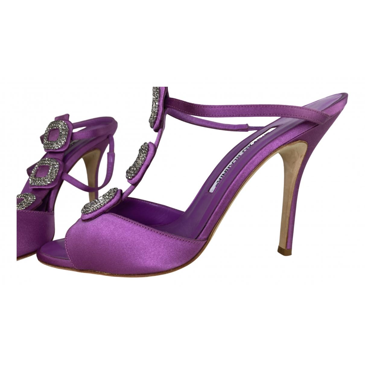 Manolo Blahnik - Escarpins   pour femme en toile - violet