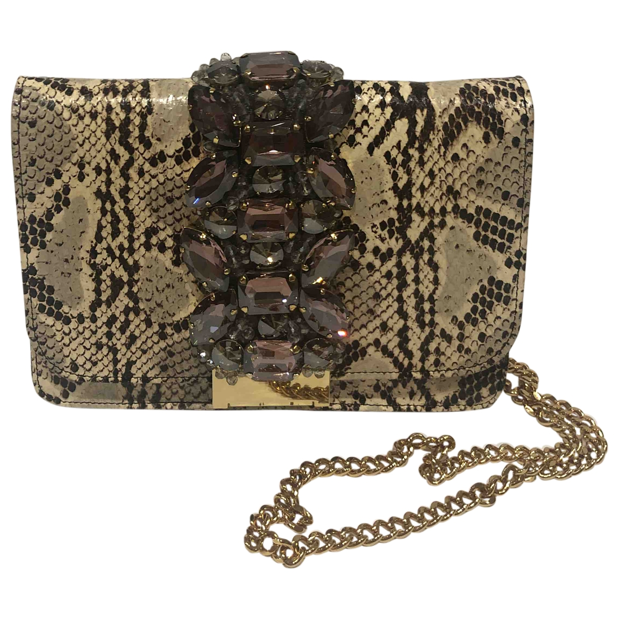 Gedebe \N Grey Python handbag for Women \N