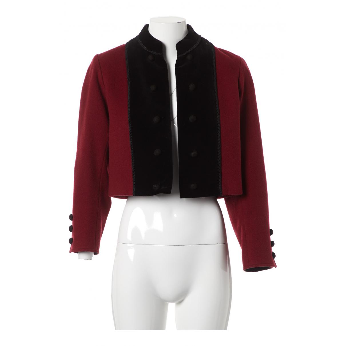 Saint Laurent - Vestes.Blousons   pour homme en laine - rouge