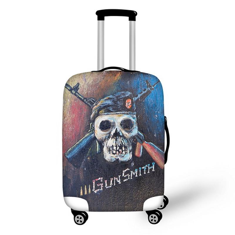 Gun Smith Skull Waterproof Suitcase Protector for 19 20 21