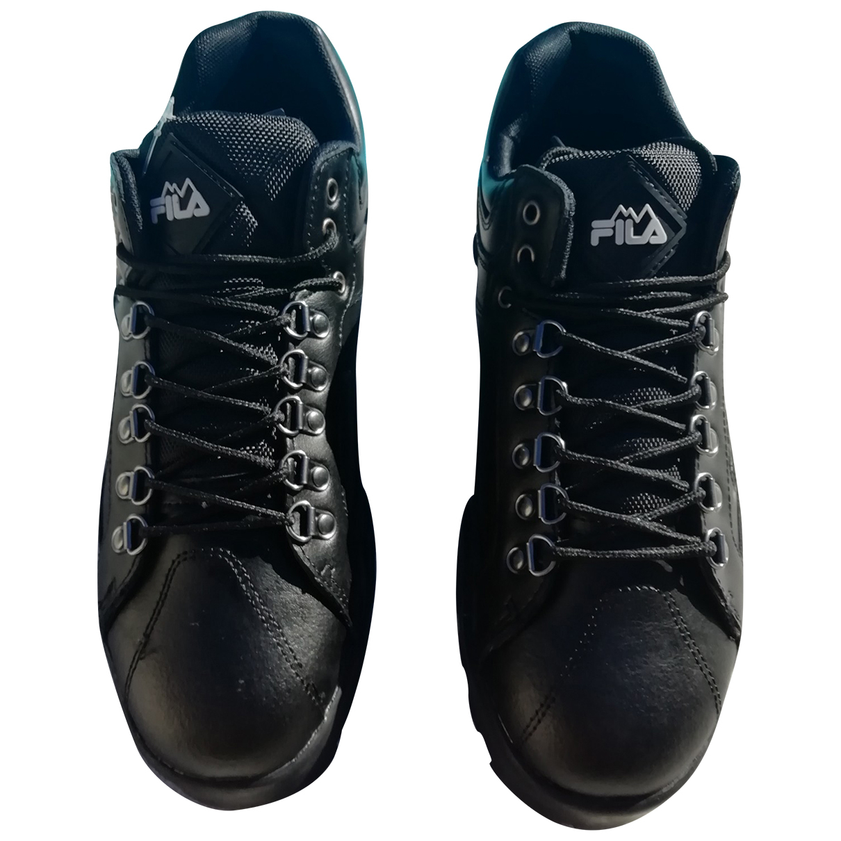 Fila \N Sneakers in  Schwarz Leder