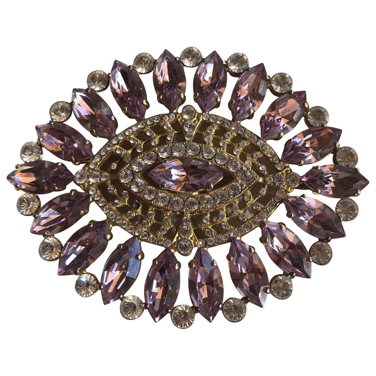 Dolce & Gabbana - Broche   pour femme en or et acier - rose