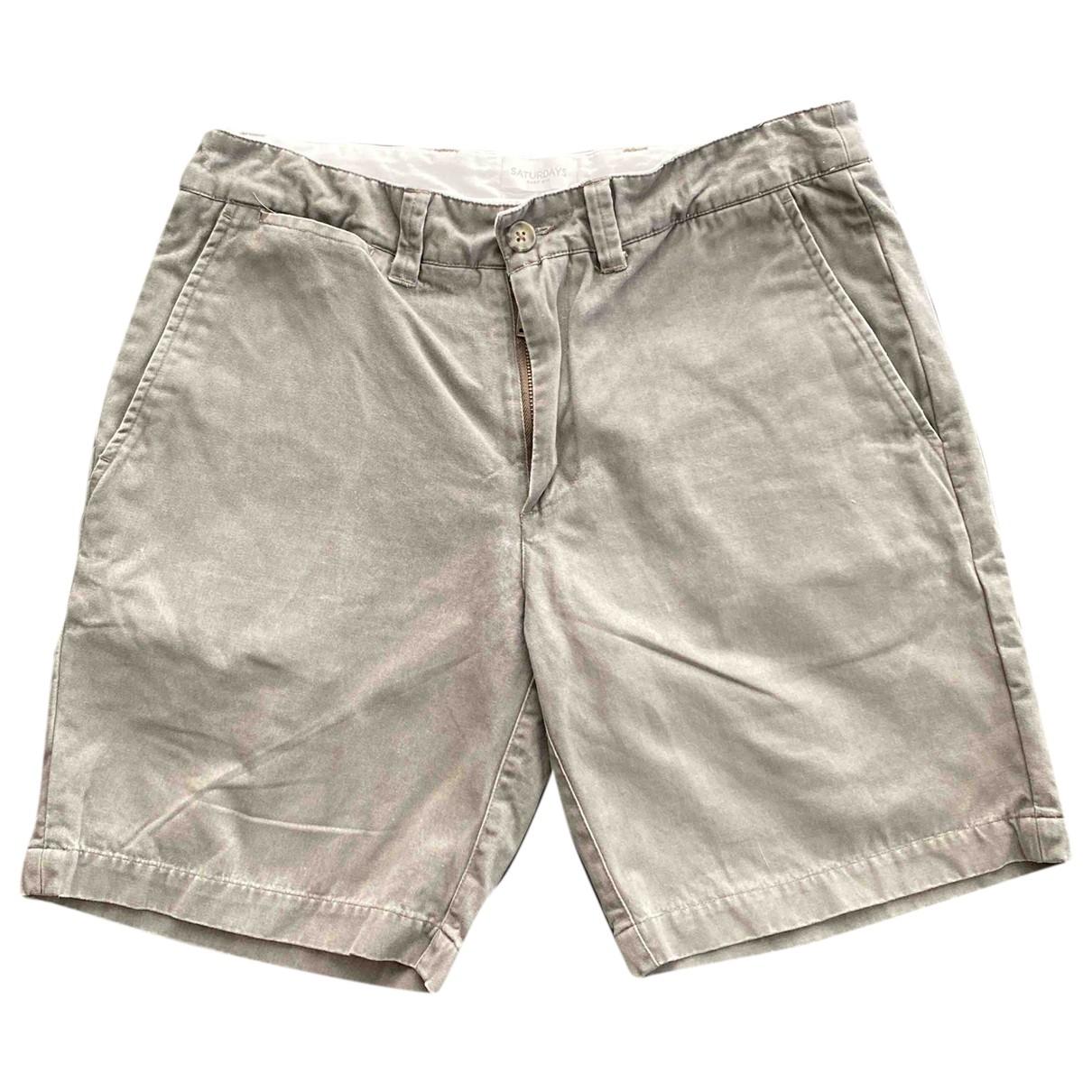 Saturdays \N Shorts in  Grau Baumwolle