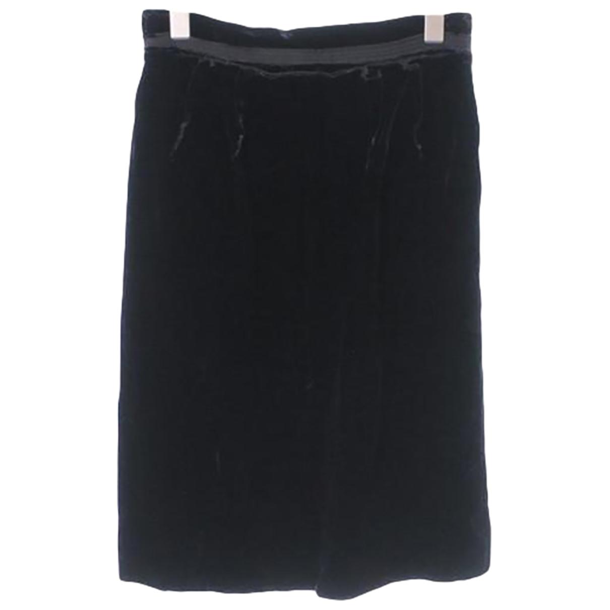 Lanvin - Jupe   pour femme en velours - noir