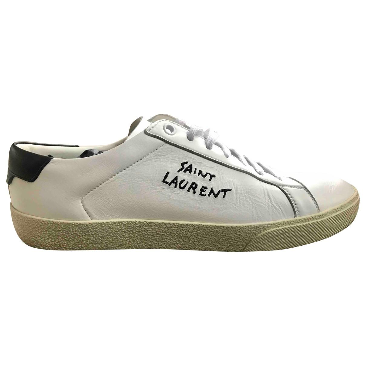 Saint Laurent - Baskets   pour femme en cuir - blanc