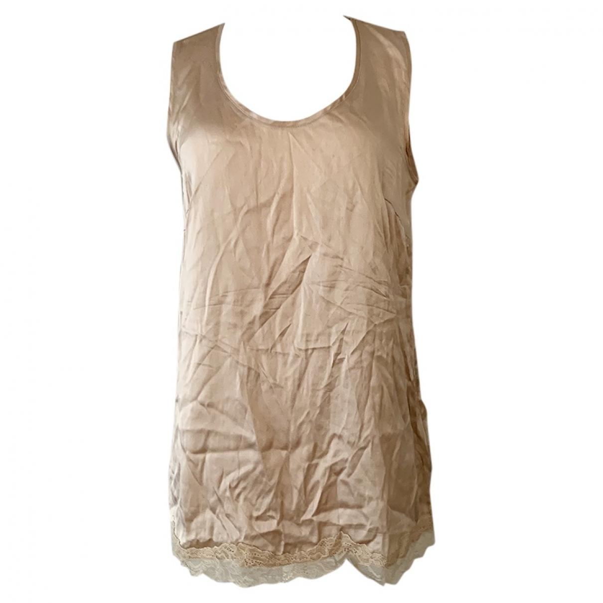 Falconeri - Top   pour femme en soie - beige