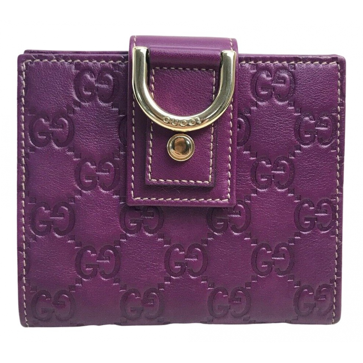 Gucci N Purple Leather wallet for Women N