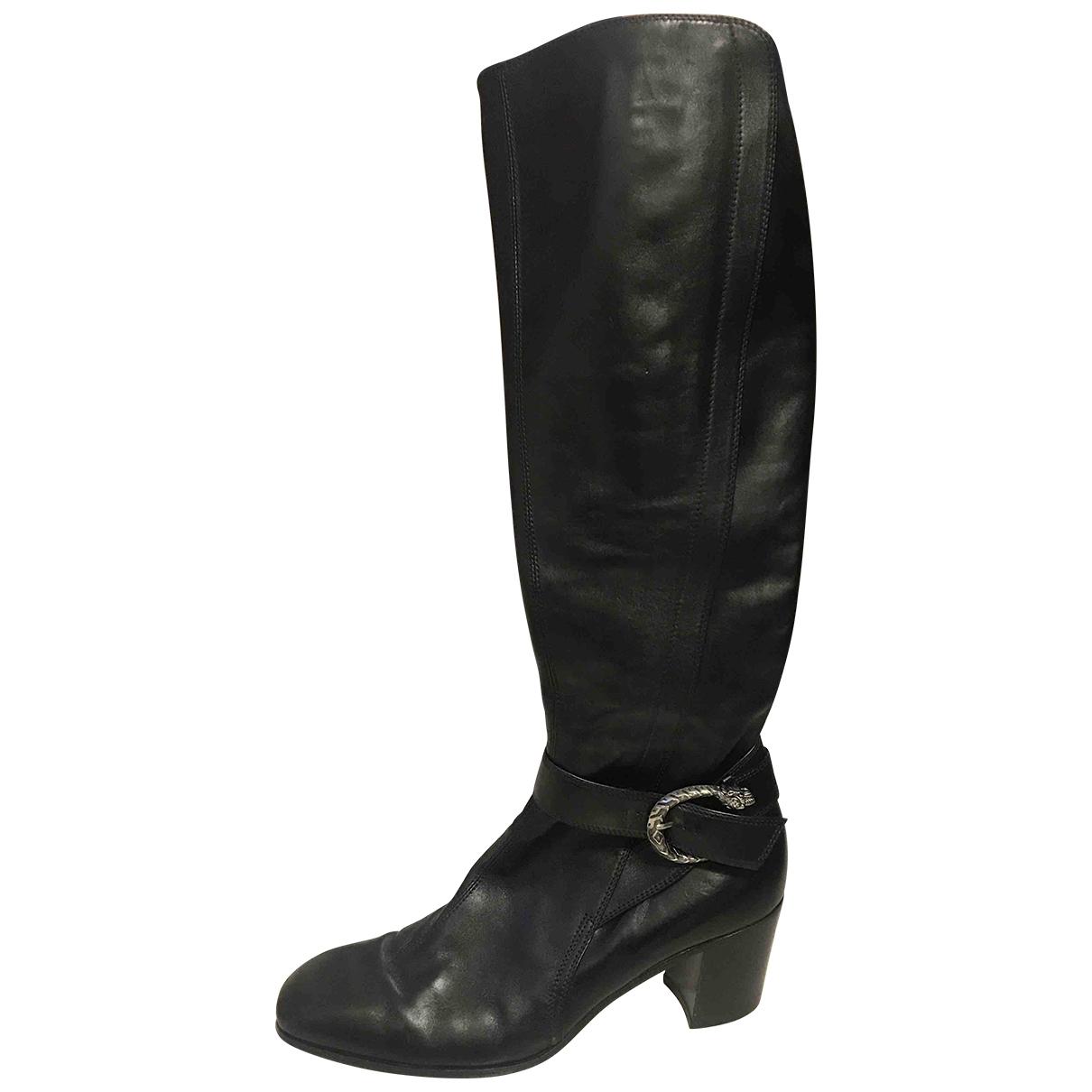 Gucci Dionysus Stiefel in  Schwarz Leder