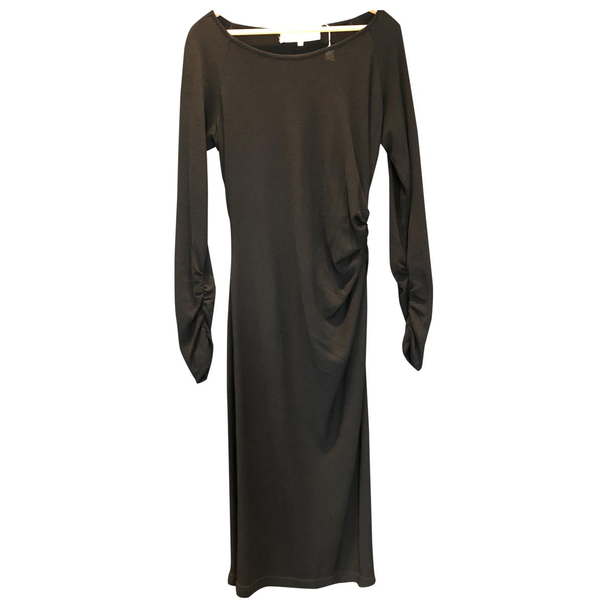 Emanuel Ungaro N Black Wool dress for Women 14 UK