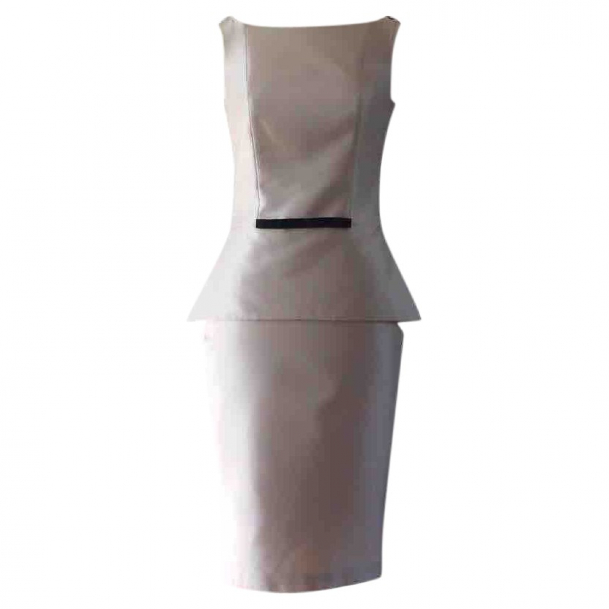 Non Signé / Unsigned \N Beige Silk dress for Women 42 IT