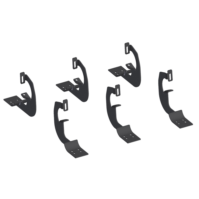 Aries 4502 Carbon Steel Carbide Black Powder Coat Mounting Brackets for 6